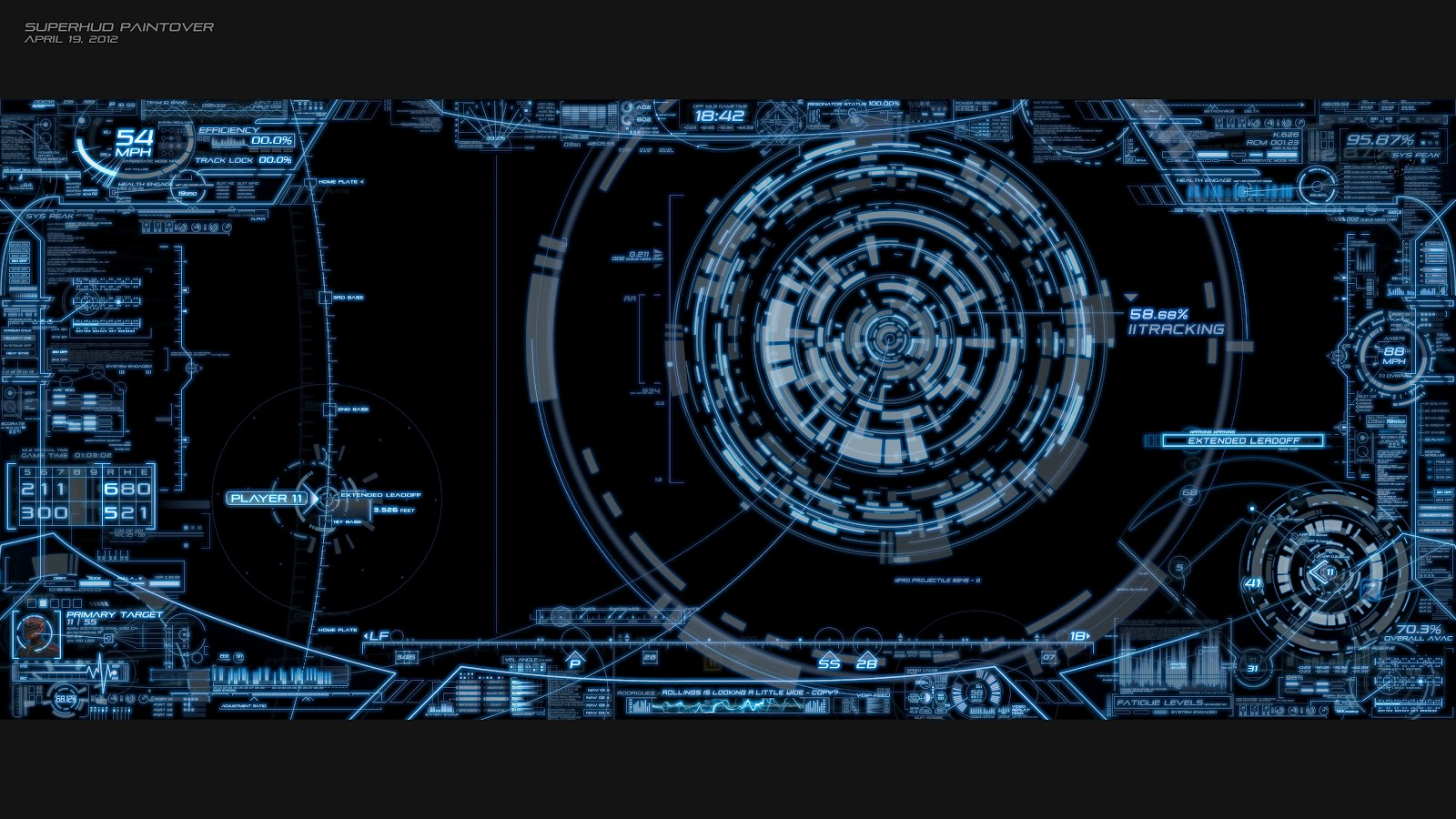 Animated 3d wallpaper jarvis interface - This Page Has Cool Animated Hud Elements Inspired By Tron2 Imagine All These Layers Rotating Layered On Top Of One Another Cool Effect Videos